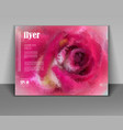 beautiful rose background for greeting cards vector image
