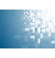 Blue shiny squares tech background vector image vector image