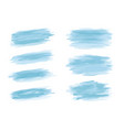 blue watercolor brush stroke on white background vector image