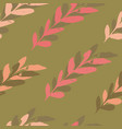 Brown seamless leaves watercolour pattern design