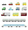 Cars Collection Vehicles in cartoon flat style vector image