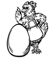 chicken and the egg vector image vector image