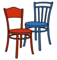 Classic color chairs vector image vector image