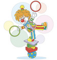 clown juggler and equilibrist vector image vector image