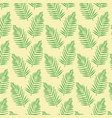 color background pattern green palm leaves vector image vector image