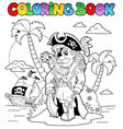 coloring book with pirate theme 9 vector image vector image