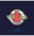 conceptual logo and label art studio vector image vector image