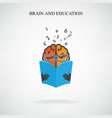 creative brain sign vector image vector image