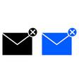 delete messge icon vector image vector image