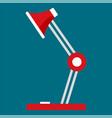 desktop lamp icon flat style vector image