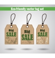 Eco Friendly Labels vector image
