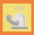 flat shading style icon phone alarm lamp vector image vector image