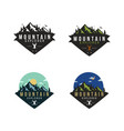 forest mountain adventure badge logo set vector image vector image