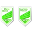 fresh natural labels and stickers vector image vector image