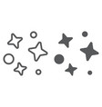 galaxy line and glyph icon universe and astronomy vector image vector image
