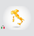 geometric polygonal style map of italy low poly vector image vector image