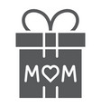 gift for mom glyph icon present and holiday mom vector image vector image