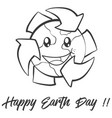 happy earth day collection style vector image vector image