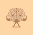 happy strong brain vector image