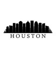 houston skyline vector image