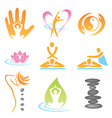 icons spa massage vector image vector image
