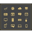 Internet and Web icon set vector image vector image