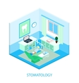 isometric dental clinic vector image vector image
