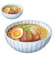 Japanese ramen soup Cartoon icon isolated vector image