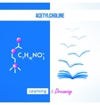 Learning chemistry concept Chemistry poster with vector image vector image