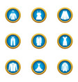 light clothing icons set flat style vector image vector image
