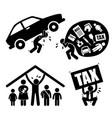 man family financial problem burden stress vector image