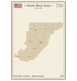 map monroe county in alabama vector image vector image