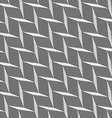 Monochrome pattern with gray braid grid vector image vector image