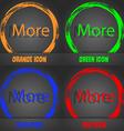 More sign icon Details symbol Website navigation vector image vector image