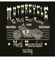 Motorcycle Racing Typography t-shirt vector image vector image
