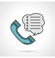Order by phone flat color icon vector image vector image