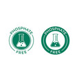 phosphate free icon chemical test tube seal vector image vector image