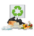 pile of rubbish scene vector image