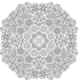 Pretty geometric floral designs on white vector image vector image