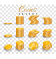 realistic stack gold coins isolated on vector image