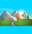 road cartoon summer landscape vector image