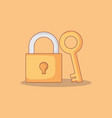 safe secure padlock with key vector image