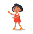 schoolgirl in dress with collar isolated vector image vector image