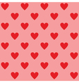 Seamless red hearts pattern vector image vector image