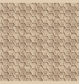 seamless web hexagon pattern beige tile surface vector image
