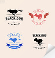 Set of logotypes with running dog for petshops vector image vector image