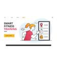 smart fitness training concept using digital apps vector image