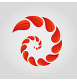 spiral of red leaves vector image vector image