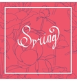 Spring word flowers vector image vector image