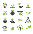 sprout icon set vector image vector image